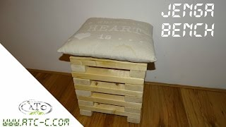 Make your own Jenga bench // How to // DIY
