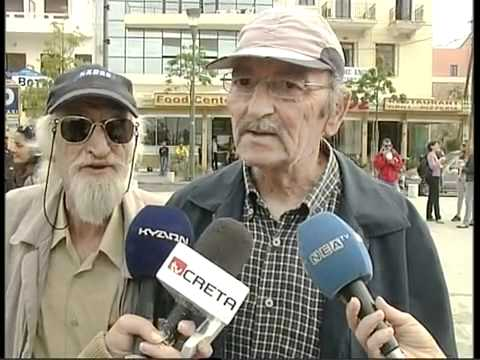 Old man invades interview