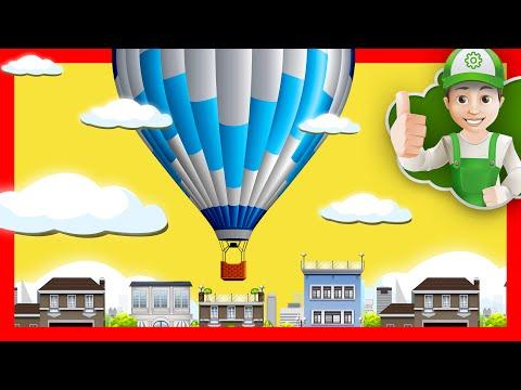 Мультик раскраска - Винтик летает на воздушном шаре