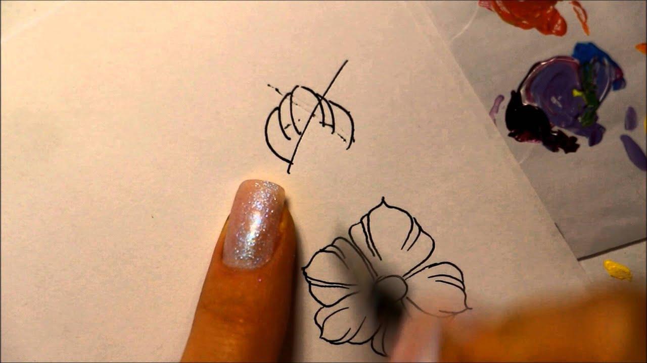 Фото пошаговой росписи ногтей