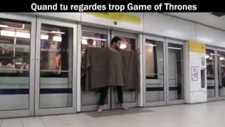 Game Of Thrones parody : Hold the door in a metro