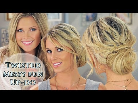 Twisted Messy Bun Up-do!!