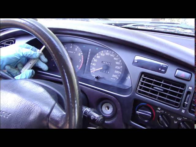 How to replace dashboard light bulbs Toyota Camry - YouTube