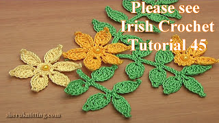 How to Crochet Leaf Branch Tutorial 46