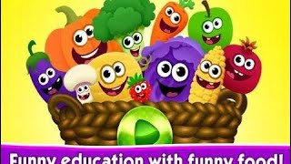 Learn Colors with Fruits and Vegetables Fun Play Food For Children