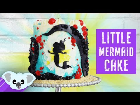 The Little Mermaid Silhouette Cake   Disney How To