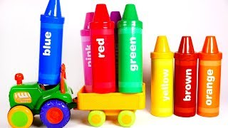 Learn your Colors with Giant Crayons and Tractor Playset | Learn with Yippee Toys