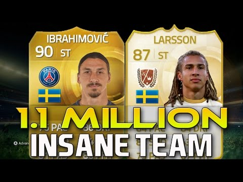 Fifa 15 1.1 Million Coin Team ft Ibrahimovic and Legend Henrik Larsson!