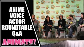 Anime Voice Actor Round Table Q&A at Animate Miami 2015