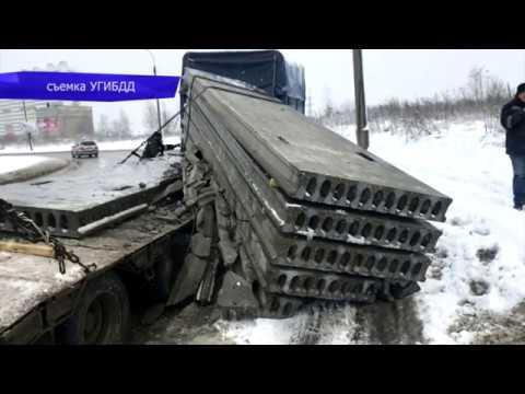 Обзор аварий. Хендэ и МАЗ, погиб водитель легковушки. Место происшествия 06.12.2017