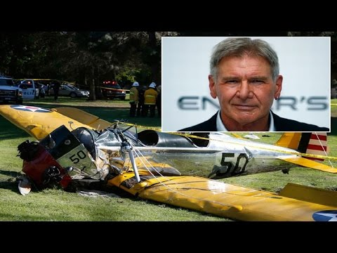 Harrison Ford Crashes His Plane Into Golf Course