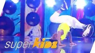11yr old pro Break Dancer Bboy Sonek from Brazil   Superkids