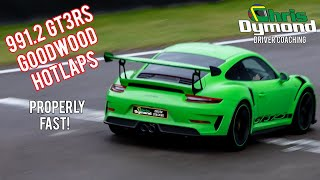 Porsche 911 GT3RS (991.2) Goodwood track day fast laps