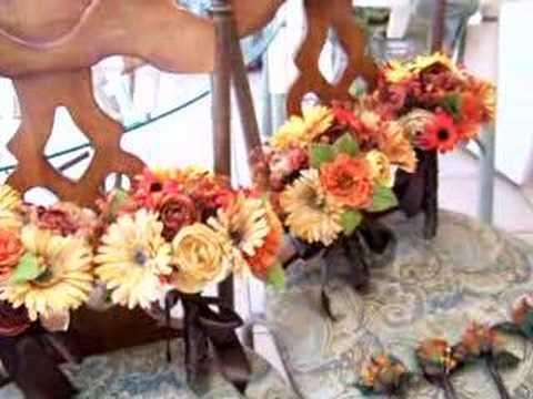 These are wedding flowers I created for an autumn themed inspired wedding.