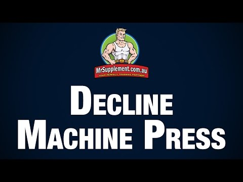 Decline Press Machine Decline Machine Press Exercise