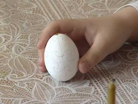 Мастер класс писанка яйцо