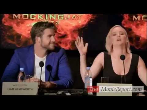 THE HUNGER GAMES MOCKINGJAY PART 2 Q&A With Jennifer Lawrence, Josh Hutcherson, Liam Hemsworth