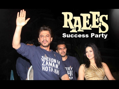 Shahrukh Khan Celebrates RAEES Success With Sunny Leone & Nawazuddin Siddiqui