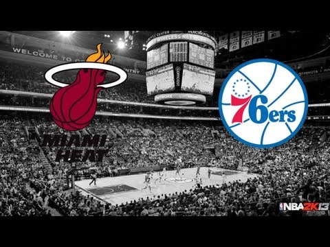 Miami Heat vs. Philadelphia 76ers | Wells Fargo Center 03/13/2013 | NBA 2k13