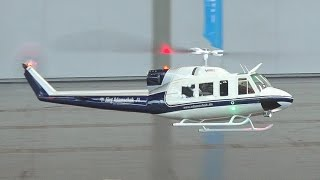 GIANT RC HELICOPTER INDOOR FLIGHT BELL 212 TWIN JET / Fair Leipzig Germany 2016