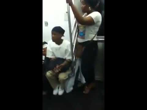 Gay Man vs Jamaican Girl on Train for Seat
