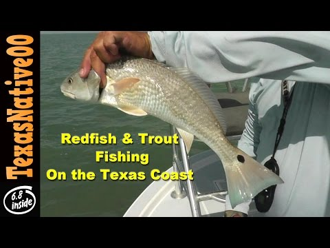 Fishing for Redfish and Trout on the Texas Coast - South Padre Island