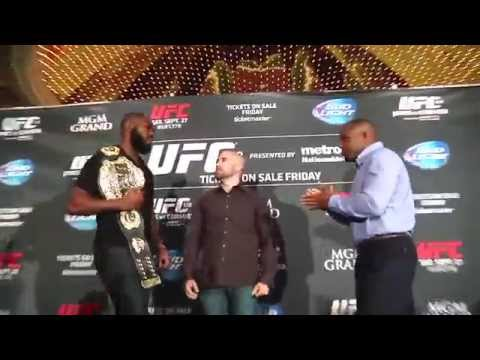 UFC Media Day: Jones and Cormier Brawl