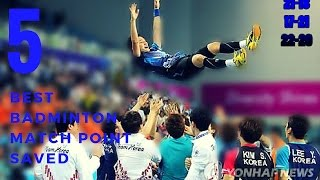 TOP 5 BEST BADMINTON MATCH POINT !!!