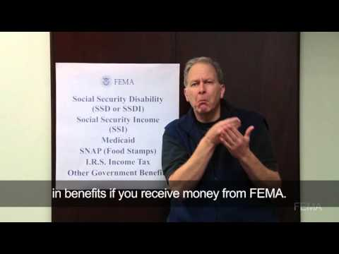 FEMA Assistance Does Not Impact Government Benefits (Disability Integration Video with ASL)