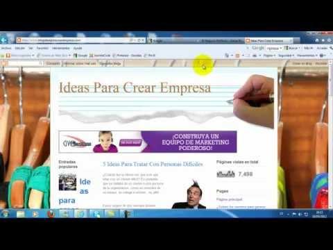 Como Crear una Pagina o Sitio Web con Blogger
