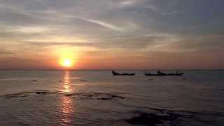 Sunset from Kep Crab market (02.12.2013)
