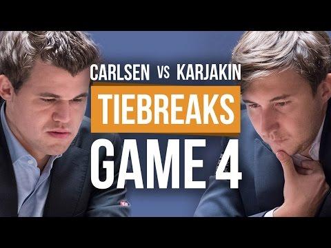Carlsen vs Karjakin: World Championship Tiebreak Game 4