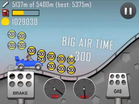 Hill Climb Racing: New Record! (7707m) Rally Car!