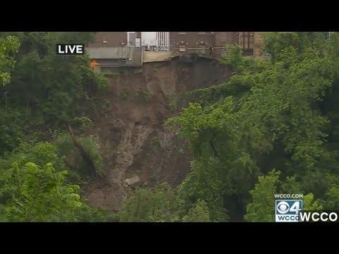 Mudslide Causes Cliff Collapse Near Minn. Hospital