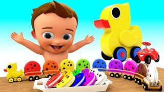 Toy Duck Train Color Cookies Toy Set - Learn Colors for Children Kids Colors 3D Educational