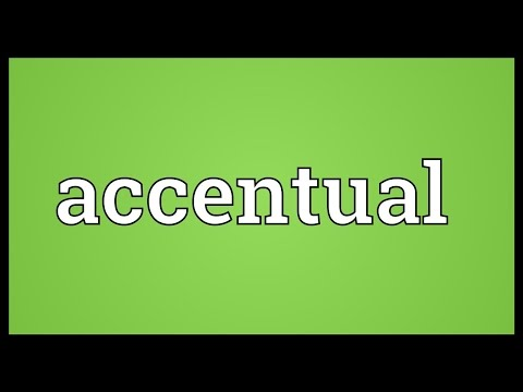 Header of accentual
