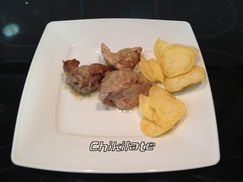 Pollo al ajillo (Thermomix)