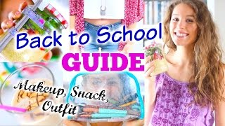 BACK TO SCHOOL GUIDE ♡ Pausen-Snack, Makeup, Outfit + Frisur |BarbieLovesLipsticks
