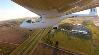 How to land a sailplane watch the real time heads up display TSA Roy Dawson video