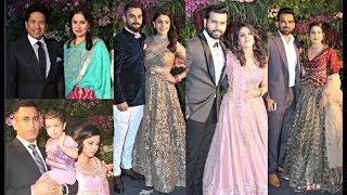 Indian Cricketers And Their Wives At Virat Kohli - Anushka Sharma Mumbai Reception
