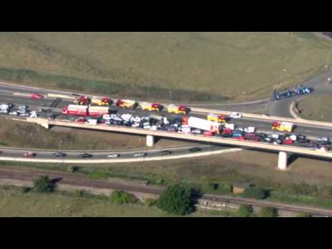 Raw: More Than 100 Vehicles in UK Pile-Up