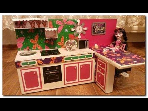 Мебель для куклы из картона
