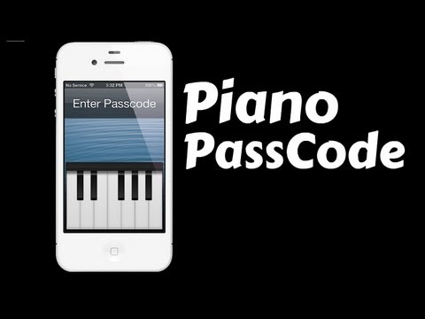 Piano Passcode Unlocking Cydia Tweak for iPhone 5. & iPod Touch 5g
