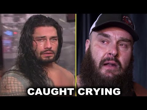 10 WWE Superstars Caught Crying Backstage Emotional Moments - Roman Reigns, Braun Strowman & More thumbnail