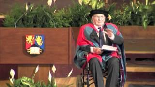 Professor John Hick sch at degree congregation