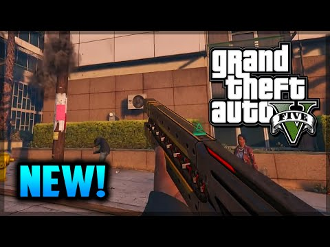 GTA 5 PS4 - FREE Railgun in GTA 5 Next Gen! (GTA 5 Gameplay)