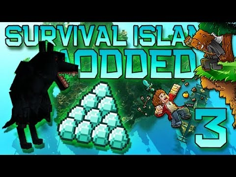 Minecraft: Modded Survival Island Let's Play w/Mitch! Ep. 3 - WEREWOLVES AND DIAMONDS!