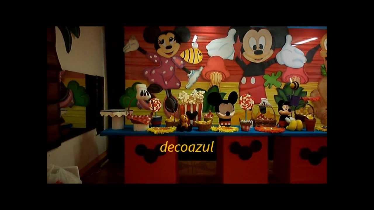 Decoraciones fiestas infantiles princesas mickey mouse - Mesas infantiles disney ...