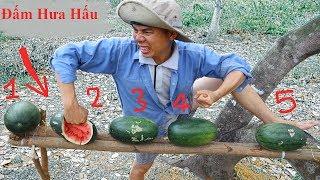 Thử Thách Đấm Nát Trái Dưa Hấu Bằng Đầu Và Tay Và Cái Kết. Fruit slashing game