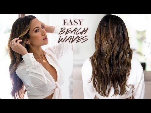 EASY EVERYDAY BEACH WAVES   Hair Tutorial